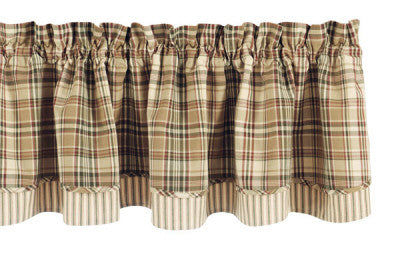 "Thyme 72"" x 16"" Layered Valance"