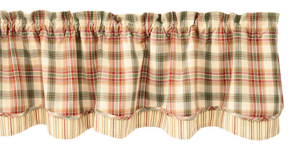 Lemon Pepper Lined Layered Valance -16""