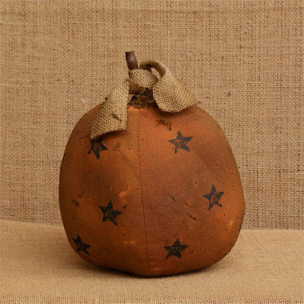 Pumpkin with Printed Stars - Med