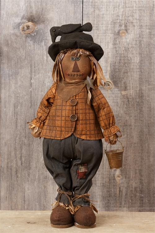 Scarecrow with Pail - Standing - Grungy