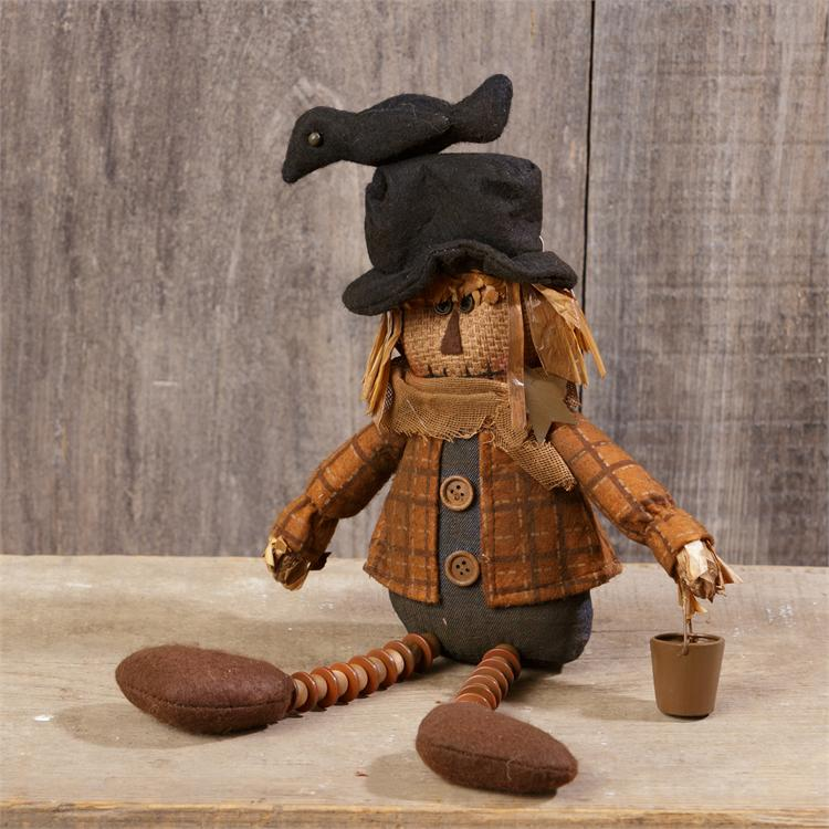 Scarecrow with Pail - Sitting - Grungy