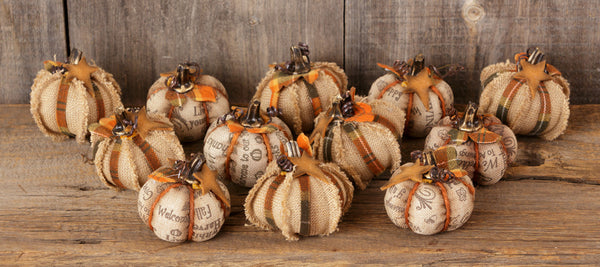 Mini-Fabric Pumpkins