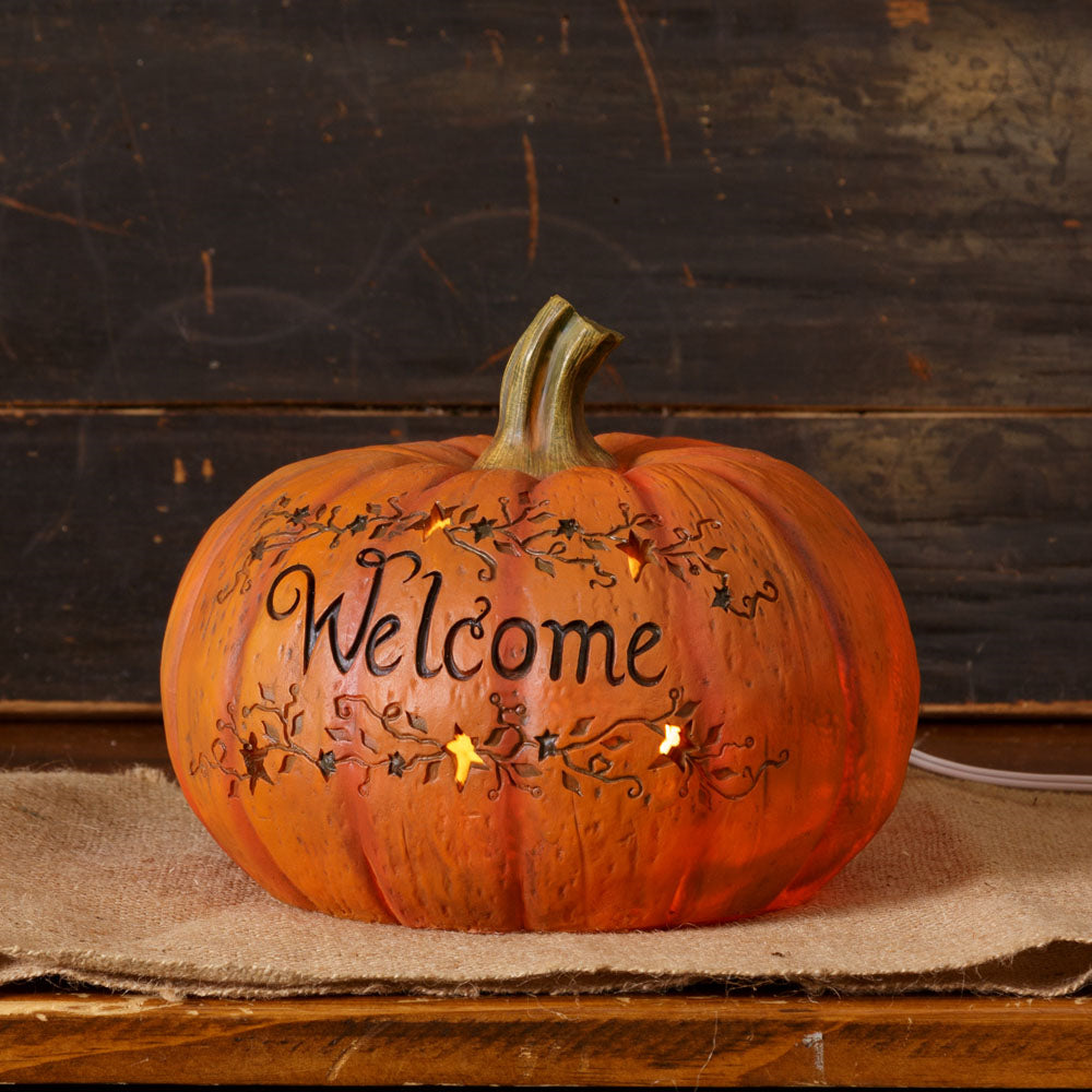 Pumpkin with Light - Welcome