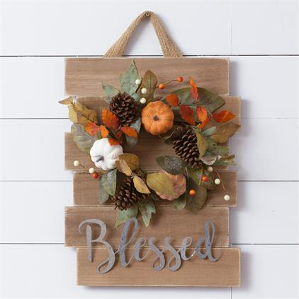 Wreath Sign - Blessed