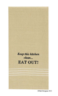 Keep This Kitchen Clean Embroidered Dishtowel
