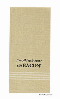Better With Bacon Embroidered Dishtowel