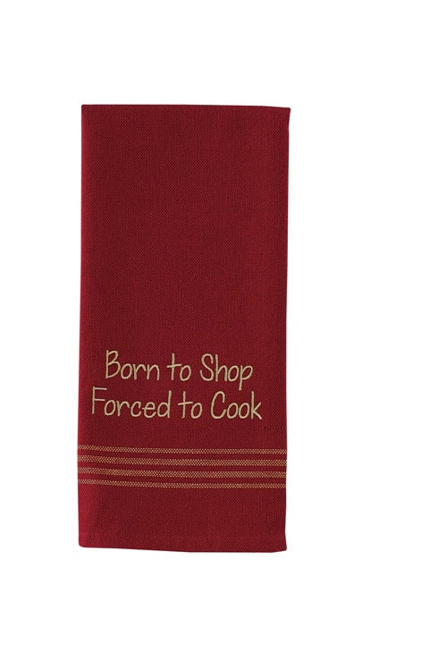Born To Shop Dishtowel