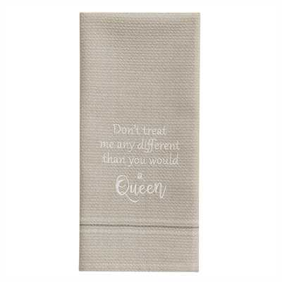 A Queen Embroidered Dishtowel