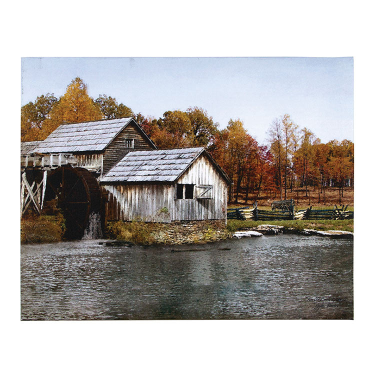 Old Creek Gristmill Canvas