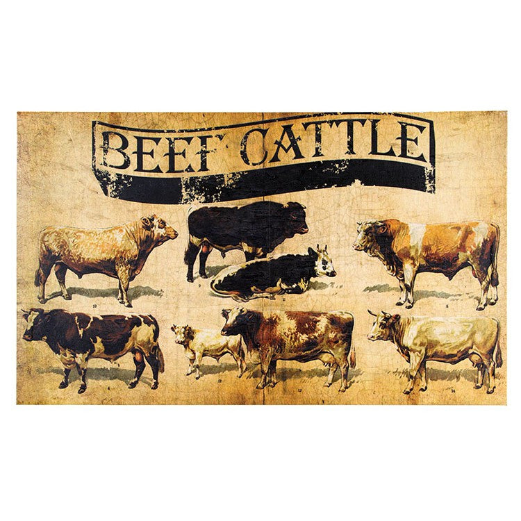Beef Cattle Breeds Canvas