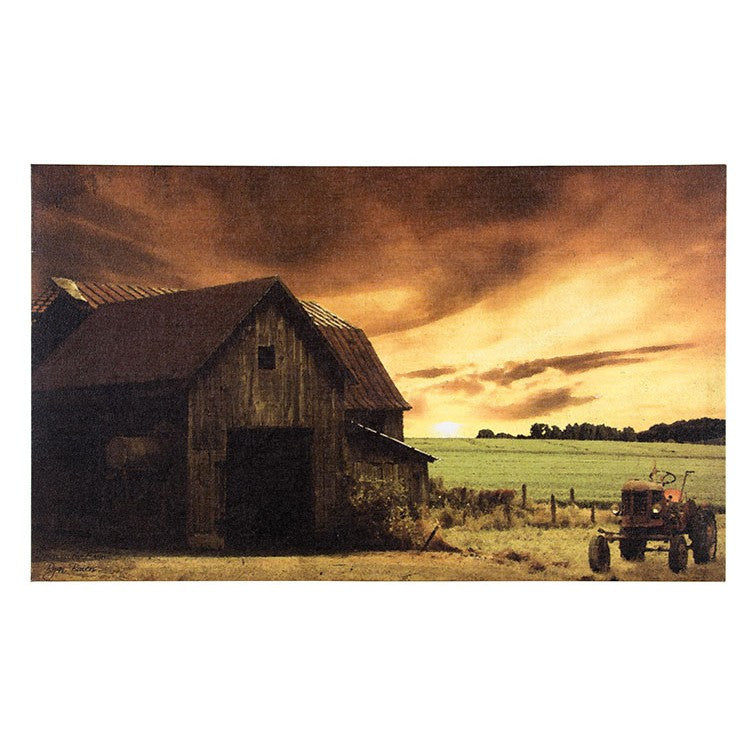 Sepia Toned Farm Canvas