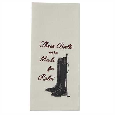 Made For Ridin' Embroidered Dishtowel