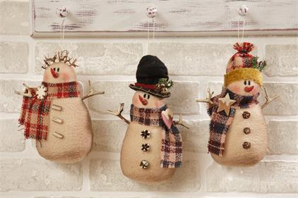 Plaid Partners - Snowman Trio