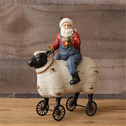 Santa Riding Sheep