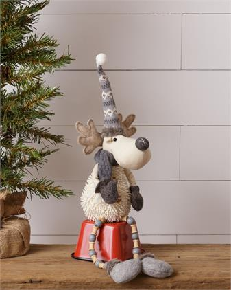 Moose - Shelf Sitter, With Pattern Hat