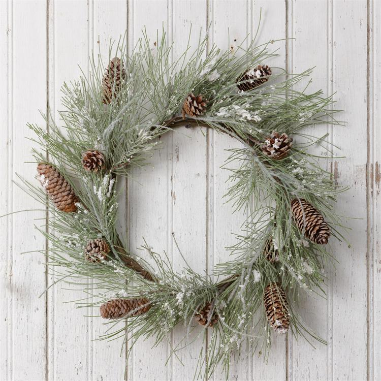 Wreath - Snowy Pine & Pinecone