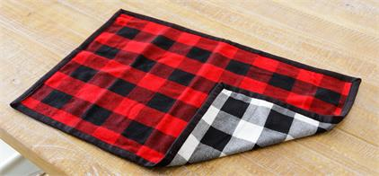 Placemat - Reversible Buffalo Plaid
