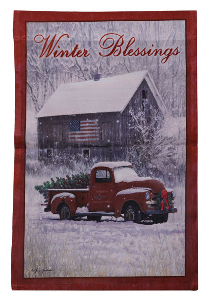 Winter Blessings Flag