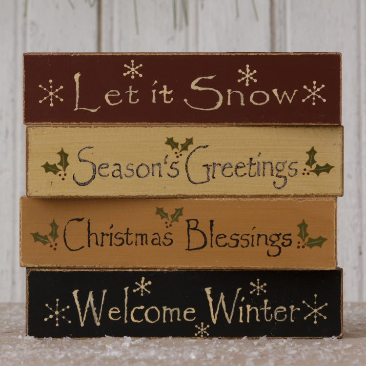 Message Blocks - Mini Seasons Greetings
