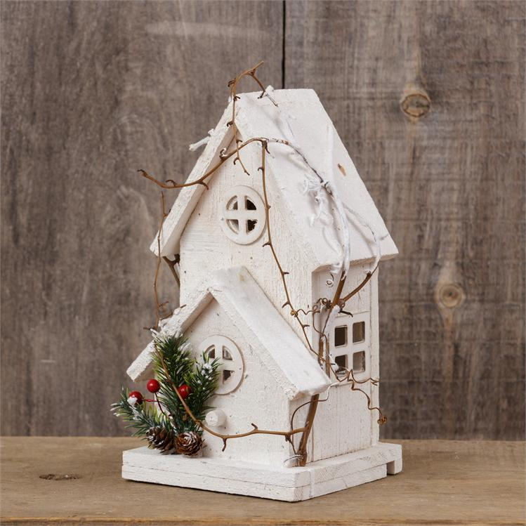 Winter Village - 2 Story Birdhouse