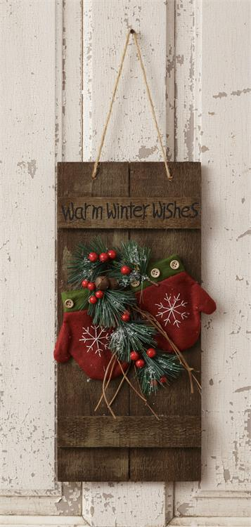Hanging Sign-Warm Winter Wishes