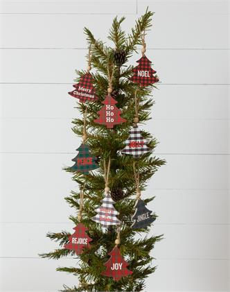 Ornament - Plaid Tree With Expression