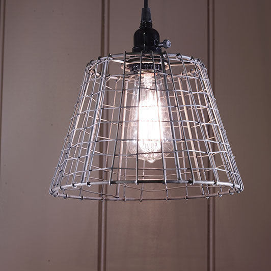 Small Wire Basket Light