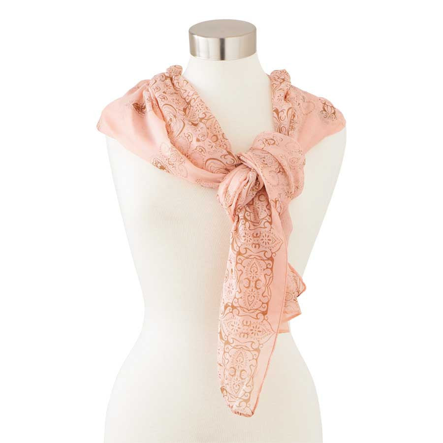 Soft Pink and Taupe Scarf