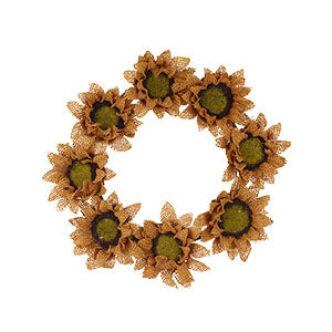 Burlap Sunflower Ring