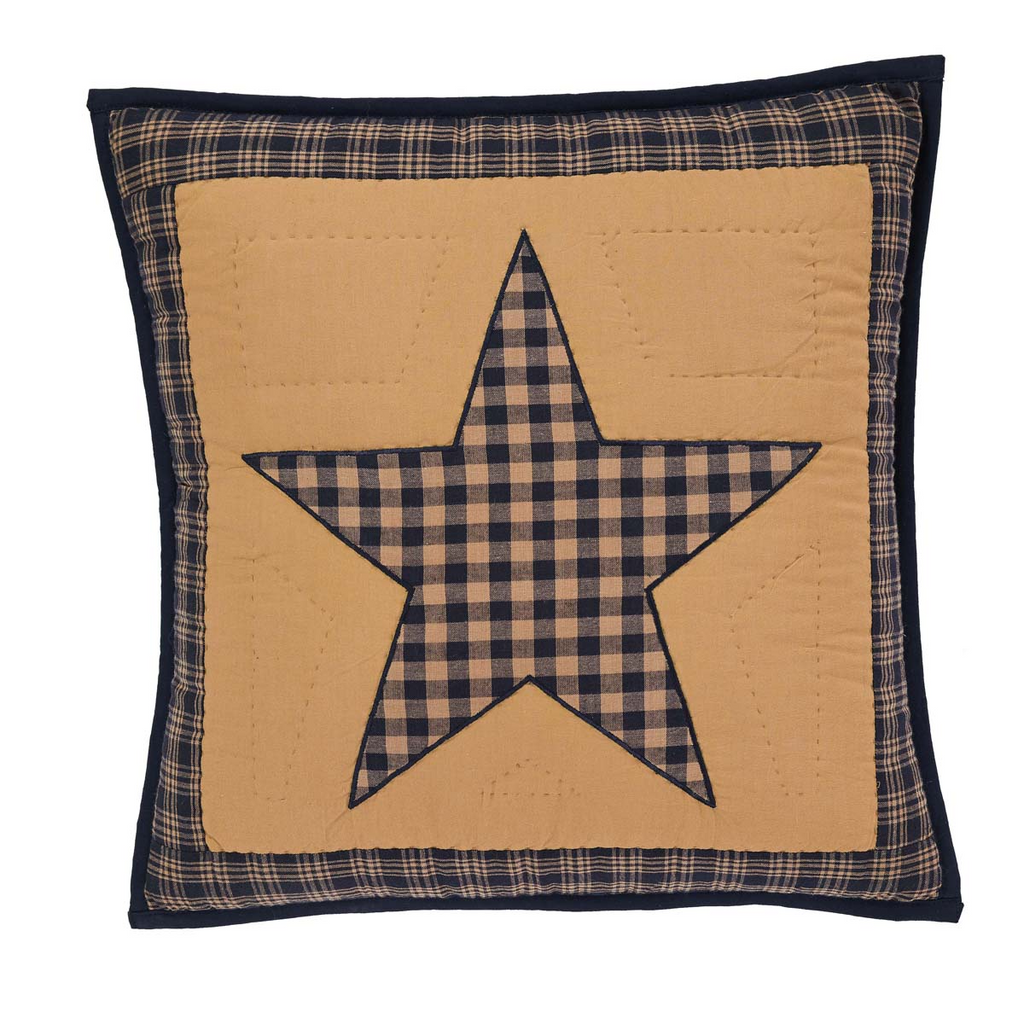 "Teton Star 16"" x 16"" Quilted Pillow"