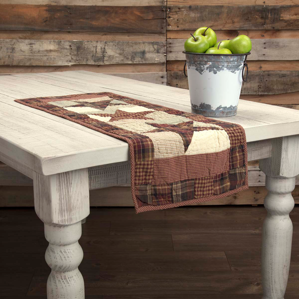 Abilene Star Quilted Table Runner