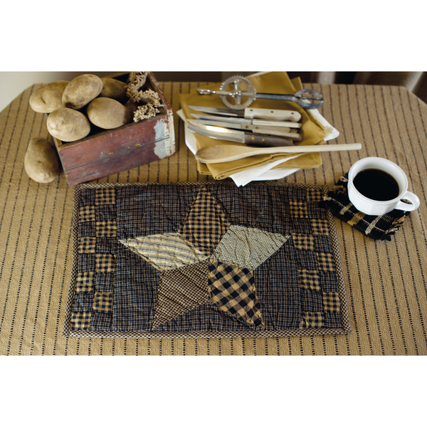 Farmhouse Star Placemat - Quilted