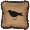 "Heritage Farms Primitive Crow Pillow 18"" x 18"""