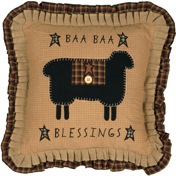 "Heritage Farms Baa Baa Blessings Pillow 18"" x 18"""