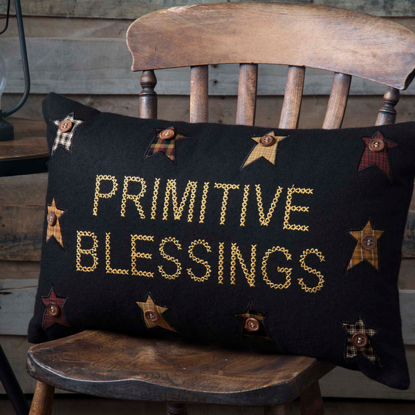 "Heritage Farms Primitive Blessings Pillow 14"" x 22"""