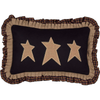"Heritage Farms Primitive Stars Pillow 14"" x 22"""