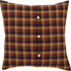 "Heritage Farms Primitive Check Fabric Euro Sham 26"" x 26"""