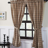 Sawyer Mill Charcoal Plaid Panel Curtain Set
