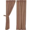 Crosswoods  Panel Curtain Set Of 2 63x36