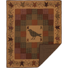 "Heritage Farms Applique Crow and Star Quilted Throw 60"" x 50"""