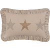 "Sawyer Mill Star Charcoal Pillow 14"" x 22"""