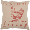 Sawyer Mill Red Farmhouse Living Pillow 18 X 18