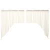 Tobacco Cloth Antique White Swag Curtain Fringed Set of 2 36X36X16