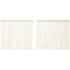 Tobacco Cloth Antique White Fringed Tier Set