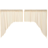 Tobacco Cloth Natural Natural Swag Fringed Curtain Set of  2 36X36X16