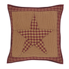 "Ninepatch Star 16"" x 16"" Quilted Pillow"