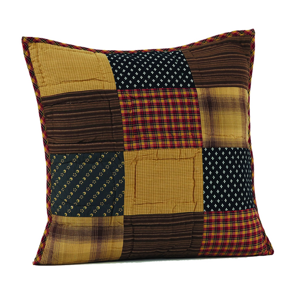 "Patriotic Patch 16"" x 16"" Quilted Pillow"