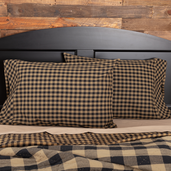 Black Check Standard Pillow Case Set of 2