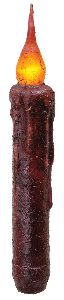 Flicker Timer Taper-Burgundy 6""