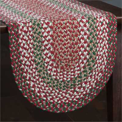 Holly Berry Braided Table Runner